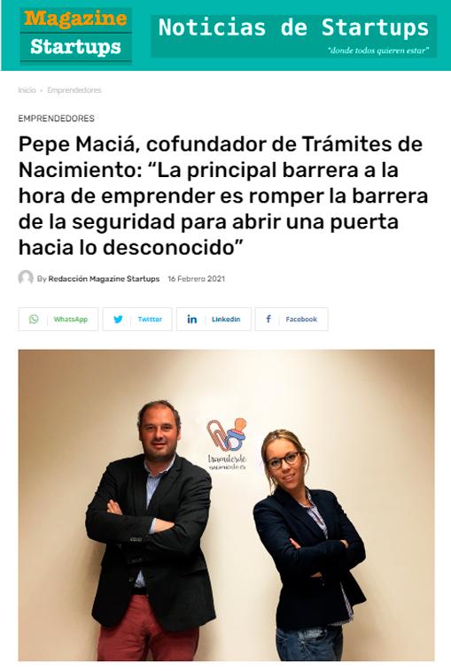 Magazine startups - tramites nacimiento Barcelona