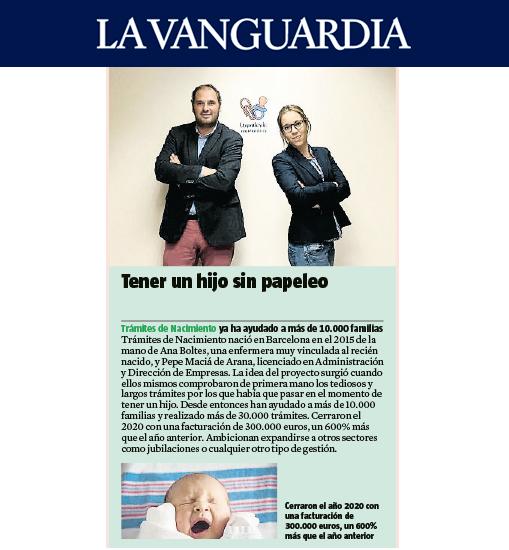 Tramites de nacimiento - La Vanguardia